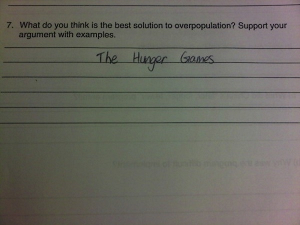 Hilarious Test Answers
