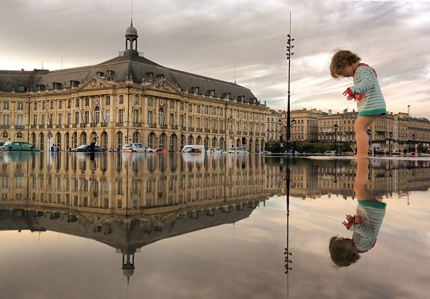 Puddles of Bordeaux France