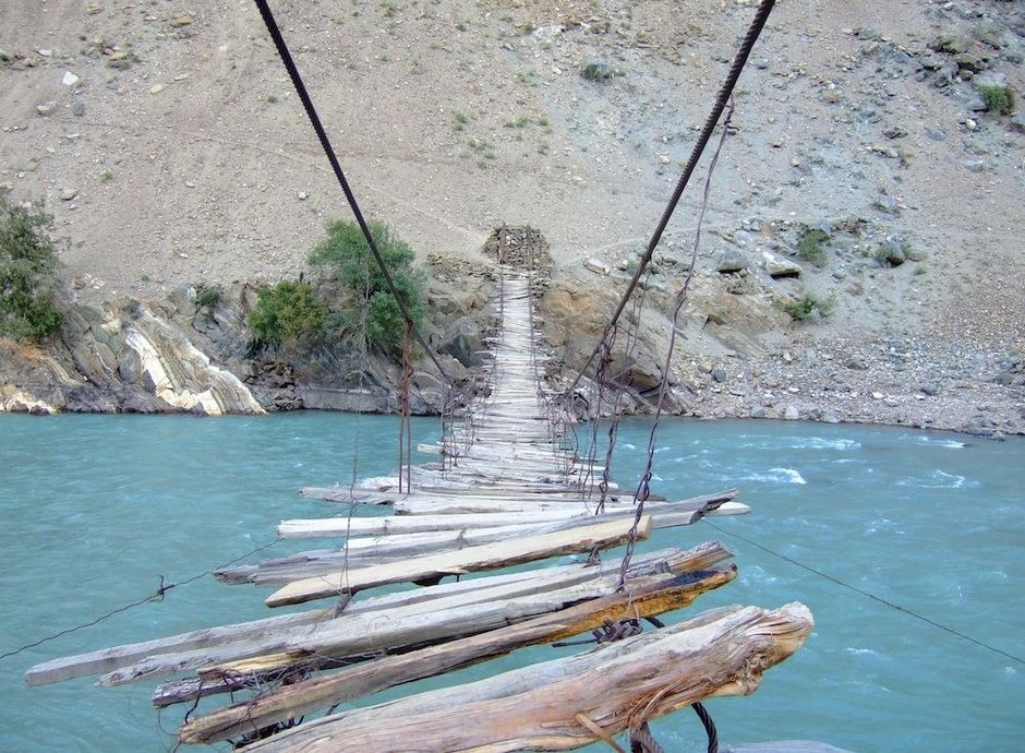 Rope Bridge In Astore Valley Pakistan