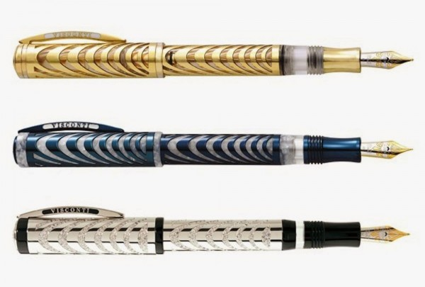 Visconti Ripple H.R.H Fountain pens