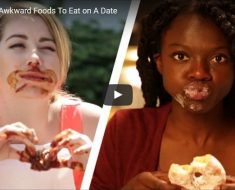 awkward foods to eat on adate