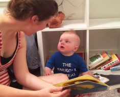 baby cries when book ends video