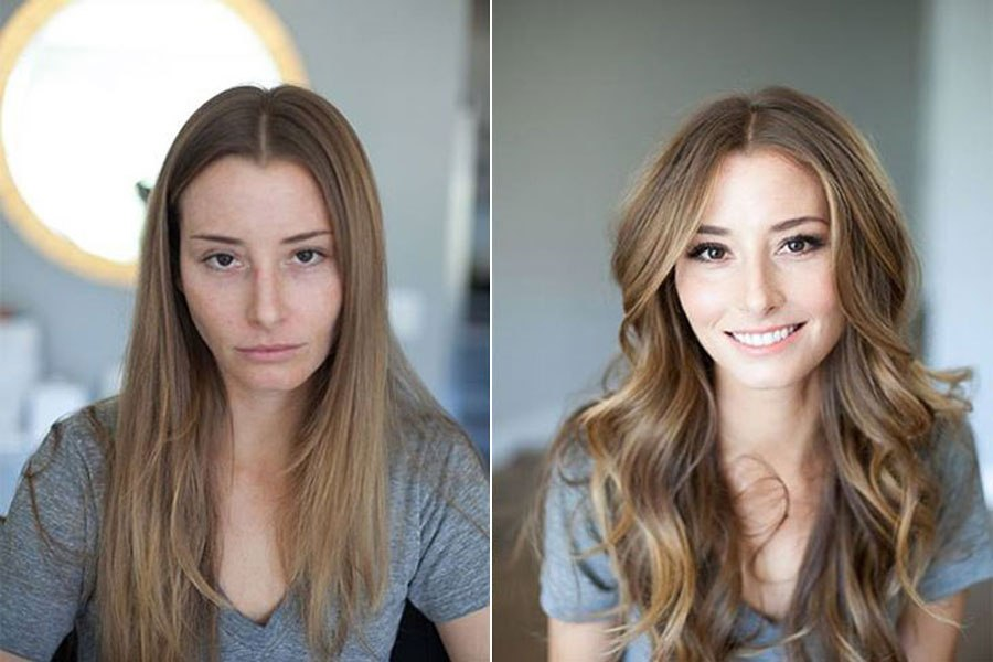 makeup before and after photo