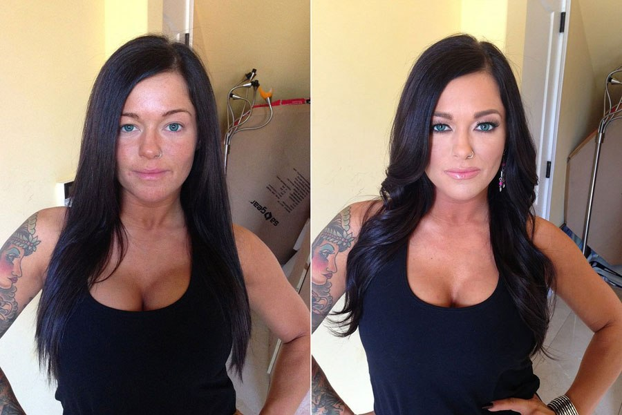 makeup contouring before and after pictures