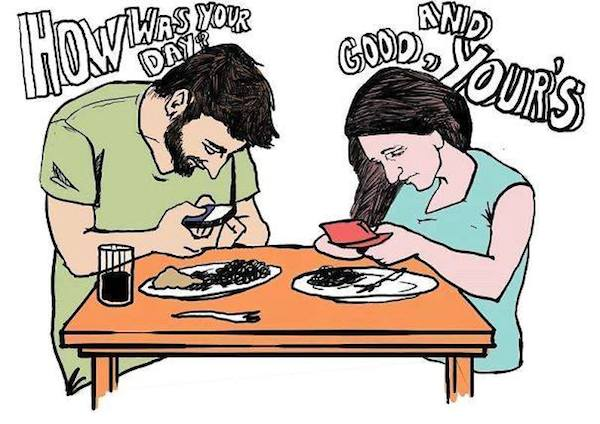 smartphone addiction funny sad images 15
