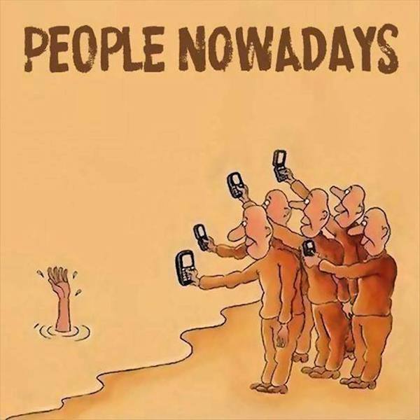 smartphone addiction funny sad images 18