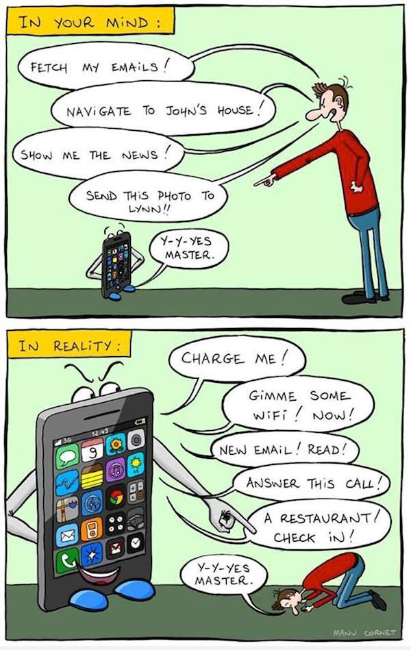 smartphone addiction funny sad images 6