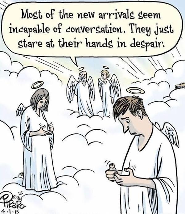 smartphone addiction funny sad images 8