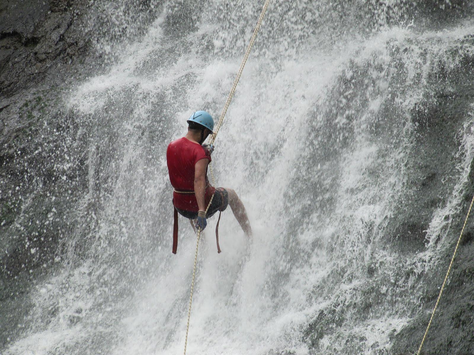 waterfall rappling
