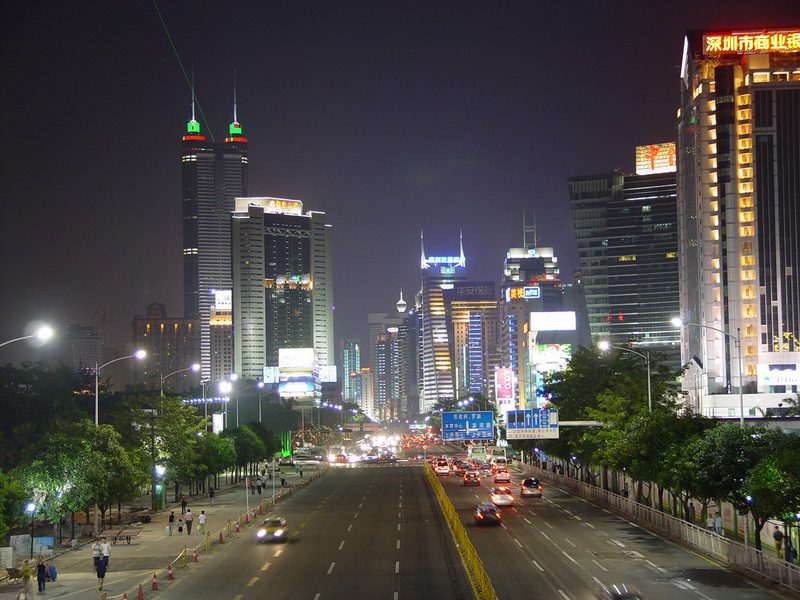 Shenzhen night street