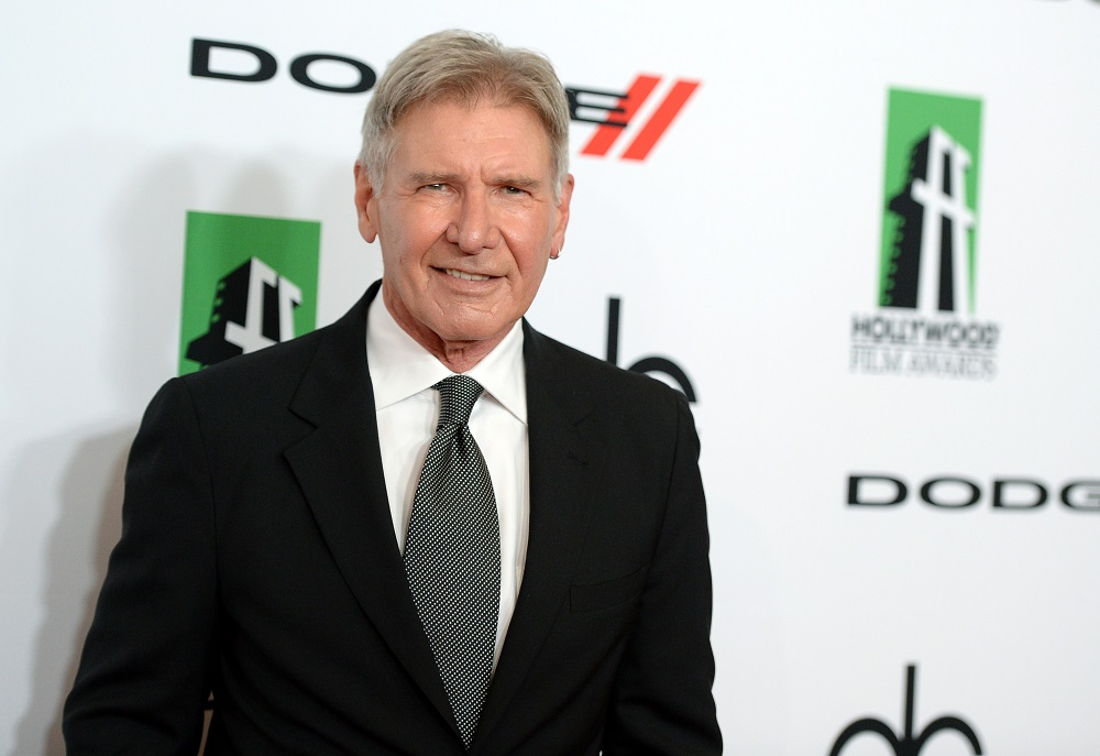 BEVERLY HILLS, CA - OCTOBER 21: Actor Harrison Ford arrives at the 17th annual Hollywood Film Awards at The Beverly Hilton Hotel on October 21, 2013 in Beverly Hills, California. (Photo by Jason Kempin/Getty Images)