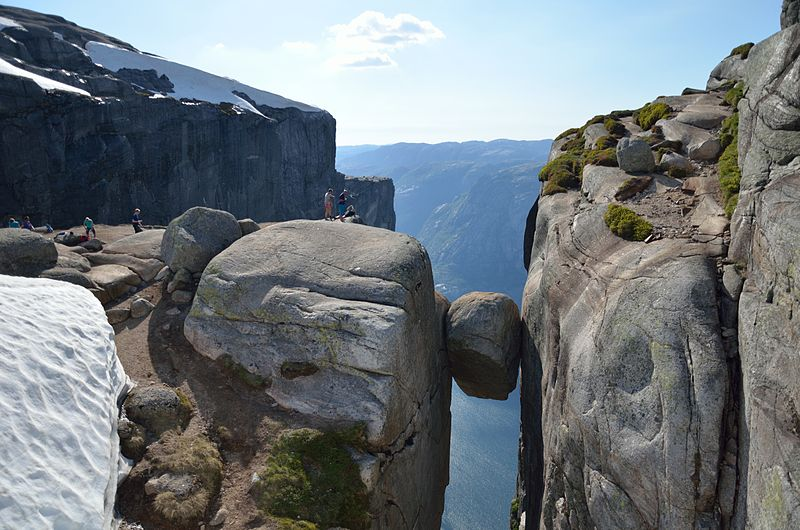 Rock Preikestolen, Norway